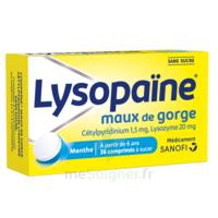 LysopaÏne Comprimés à Sucer Maux De Gorge Sans Sucre 2t/18 à Cavignac