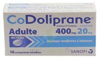 CODOLIPRANE ADULTES 400 mg/20 mg, comprimé sécable à Cavignac