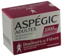 ASPEGIC ADULTES 1000 mg, poudre pour solution buvable en sachet-dose 15 à Cavignac