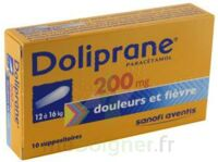 DOLIPRANE 200 mg Suppositoires 2Plq/5 (10) à Cavignac