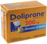 DOLIPRANE 200 mg Poudre pour solution buvable en sachet-dose B/12 à Cavignac