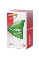 Nicorette 2 Mg Gomme à Mâcher Médicamenteuse Sans Sucre Fruits Plq/105 à Cavignac