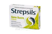 STREPSILS CITRON SANS SUCRE, pastille édulcorée à l'isomalt, au maltitol et à la saccharine sodique à Cavignac