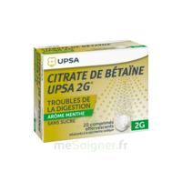 Citrate De Bétaïne Upsa 2 G Comprimés Effervescents Sans Sucre Menthe édulcoré à La Saccharine Sodique T/20 à Cavignac