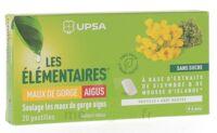 Les Elémentaires Sans Sucre Pastilles Maux De Gorge Aigus Menthe B/20 à Cavignac