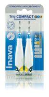 Inava Brossettes Tri Compact étroit  012 Noir 0,6mm/ Bleu 0,8mm/ Jaune 1mm à Cavignac