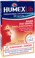 Humexlib Paracetamol Chlorphenamine 500 Mg/4 Mg, Gélule à Cavignac