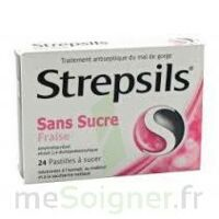 STREPSILS FRAISE SANS SUCRE, pastille édulcorée à l'isomalt, au maltitol et à la saccharine sodique à Cavignac