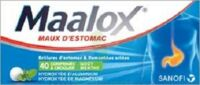 MAALOX HYDROXYDE D'ALUMINIUM/HYDROXYDE DE MAGNESIUM 400 mg/400 mg Cpr à croquer maux d'estomac Plq/40 à Cavignac