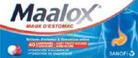 MAALOX MAUX D'ESTOMAC HYDROXYDE D'ALUMINIUM/HYDROXYDE DE MAGNESIUM 400 mg/400 mg SANS SUCRE FRUITS ROUGES, comprimé à croquer édulcoré à la saccharine sodique, au sorbitol et au maltitol à Cavignac