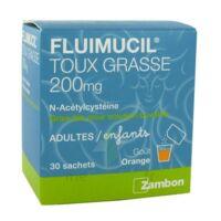 FLUIMUCIL EXPECTORANT ACETYLCYSTEINE 200 mg SANS SUCRE, granulés pour solution buvable en sachet édulcorés à l'aspartam et au sorbitol à Cavignac