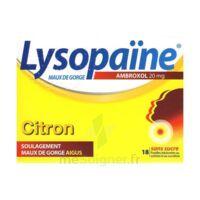 LYSOPAÏNE AMBROXOL 20 mg Pastilles maux de gorge sans sucre citron Plq/18 à Cavignac