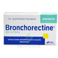 BRONCHORECTINE AU CITRAL ENFANTS, suppositoire à Cavignac