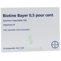 BIOTINE BAYER 0,5 POUR CENT, solution injectable I.M. à Cavignac