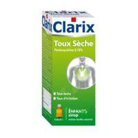 CLARIX TOUX SECHE PENTOXYVERINE 0,15 % ENFANTS, sirop à Cavignac