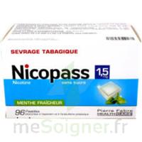 Nicopass 1,5 Mg Pastille Sans Sucre Menthe Fraîcheur Plq/96 à Cavignac