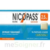 Nicopass 2,5 Mg Pastille Menthe Fraîcheur Sans Sucre Plq/36 à Cavignac