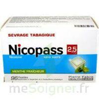 Nicopass 2,5 Mg Pastille Menthe Fraîcheur Sans Sucre Plq/96 à Cavignac