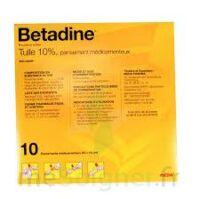 Betadine Tulle 10 % Pans Méd 10x10cm 10sach/1 à Cavignac