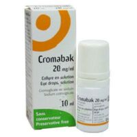 CROMABAK 20 mg/ml, collyre en solution à Cavignac