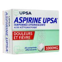 ASPIRINE UPSA TAMPONNEE EFFERVESCENTE 1000 mg, comprimé effervescent
