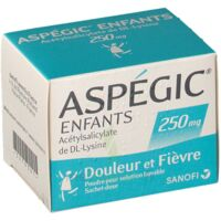 ASPEGIC ENFANTS 250, poudre pour solution buvable en sachet-dose à Cavignac
