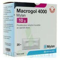 MACROGOL 4000 MYLAN 10 g, poudre pour solution buvable en sachet-dose à Cavignac