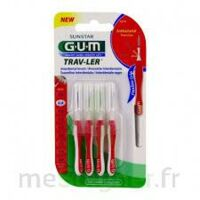 GUM TRAV - LER, 0,8 mm, manche rouge , blister 4 à Cavignac