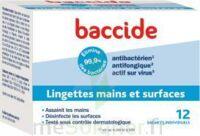 Baccide Lingette désinfectante mains & surface 12 Pochettes à Cavignac