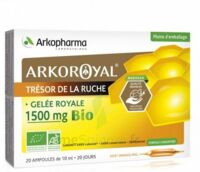 Arkoroyal Gelée Royale Bio 1500 Mg Solution Buvable 20 Ampoules/10ml à Cavignac