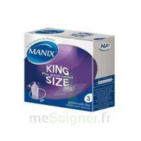 Manix King Size Préservatif avec réservoir lubrifié confort B/3 à Cavignac