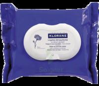 Klorane Soins des Yeux au Bleuet Lingette démaquillante biodégradable Pack/25 à Cavignac