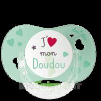 """Luc et Léa Sucette physiologique +6mois spécial bébé allaité """"J'aime mon Doudou"""" à Cavignac"""