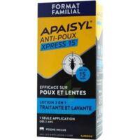 Apaisyl Anti-poux Xpress 15' Lotion Antipoux Et Lente 200ml+peigne à Cavignac