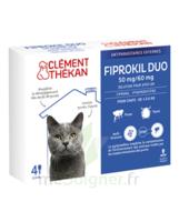 Fiprokil Duo 50mg/60mg Solution Pour Spot-on Chat Moins De 4kg 4 Pipettes/0,5ml à Cavignac