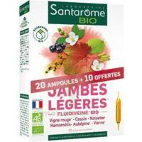 Santarome Bio Jambes Légères Solution Buvable 30 Ampoules/10ml à Cavignac
