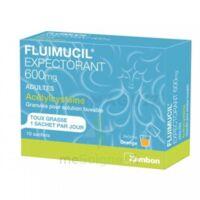 FLUIMUCIL EXPECTORANT ACETYLCYSTEINE 600 mg Glé s buv adultes 10Sach à Cavignac